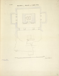 Ellora: Plan of Cave XX